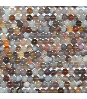 Botswana Agate Round Beads 4mm.-Strand 40cm.-Item.10595