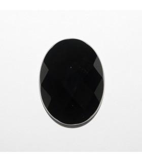 Cabujon Onix Oval Facetado 20x15mm (4 piezas).- Ref: 1182CB