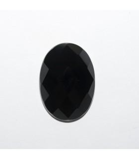 Cabujon Onix Oval Facetado 18x13mm (4 piezas).- Ref: 1183CB