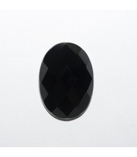Onyx Oval Faceted Cabochon 18x13mm (4 pcs).- Ref: 1183CB