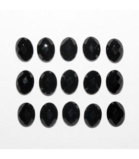Cabujon Onix Oval Facetado 8x6mm (15 piezas).- Ref: 1186CB