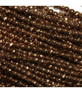 Brown Hematite Faceted Round Beads 2mm.-Strand 40cm.-Item.10606