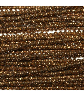Gold Hematite Faceted Round Beads 2mm.-Strand 40cm.-Item.10607