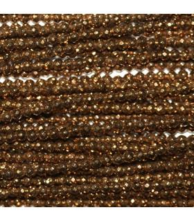 Hematite Dorado Bola Facetada 2mm.-Hilo 40cm.-Ref.10607