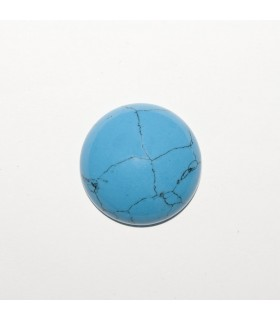 Synthetic Turquoise Round Cabochon 20mm (4 pcs).- Ref: 1194CB
