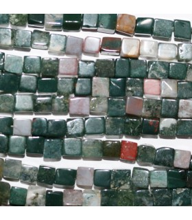 Indian Agate Smooth Cube 4mm.-Strand 40cm.-Item.10609