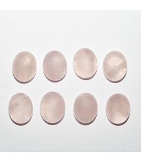 Cabujon Cuarzo Rosa Oval 11x9mm (8 piezas).- Ref: 1097CB