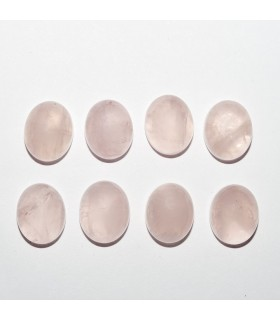 Rose Quartz Oval Cabochon 11x9mm (8 pcs.).- Ref: 1097CB
