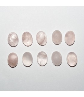Cabujon Cuarzo Rosa Oval 8x6mm (10 piezas).- Ref: 1099CB