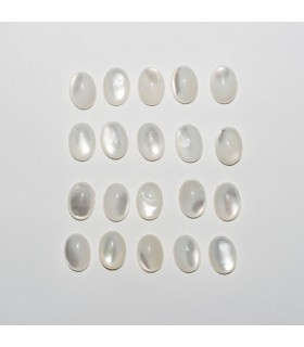 MOP Oval Cabochon 7x5mm (20 pcs).- Ref: 1158CB