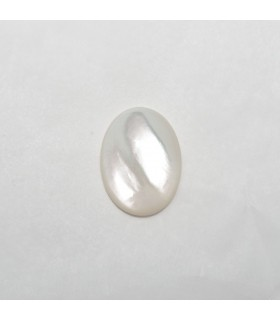 MOP Oval Cabochon 16x12mm (6 pcs).- Ref: 1178CB