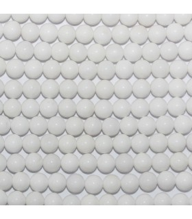 White Agate Round Beads 6mm.-Strand 39cm.-Item.10621