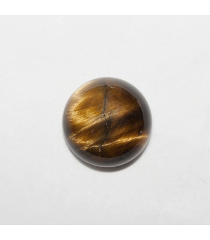 Tiger Eye Round Cabochon 14mm (4 pcs).- Ref: 1125CB