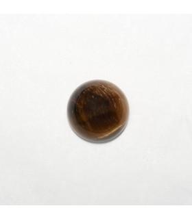 Cabujon Ojo de Tigre Redondo 12mm (8 piezas).- Ref: 1126CB