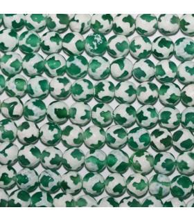 Agata Verde-Blanca Bola Facetada 6mm.-Hilo 37cm.-Ref.10626