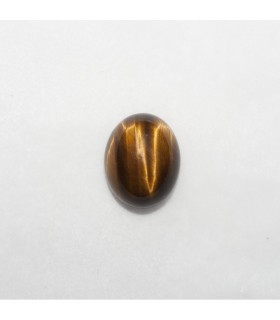 Cabujon Ojo de Tigre Oval 10x8mm (10 piezas).- Ref: 1139CB