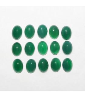 Cabujon Agata Verde Oval 8x6mm (15 piezas).- Ref: 1148CB