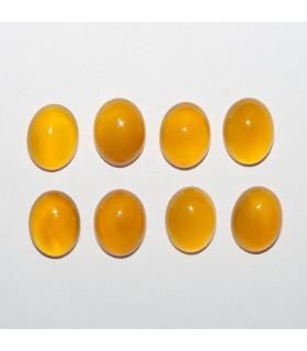 Cabujon Agata Amarilla Oval 9x7mm (8 piezas).- Ref: 1150CB