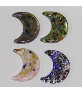 Cristal De Murano Luna 40x20mm.Aprox.-Ref.2451