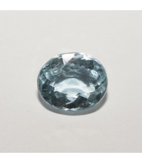 Aquamarine Faceted Round (1.63 ct) 7.8x6.5mm.-Item.015PE