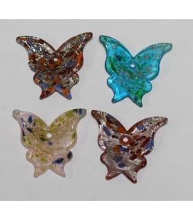 Cristal De Murano Mariposa 36x28mm.Aprox.-Ref.2430