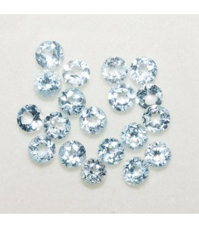 Lot Sky Topaz Round Faceted 4mm (6 ct.).- Ref: 123LO
