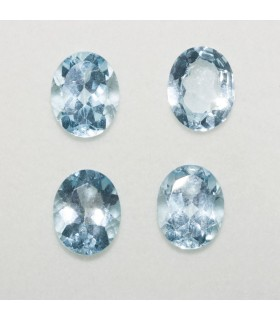 Lot Sky Topaz Oval Faceted10x8mm (4 pcs).- Ref: 127LO