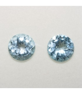 Lot Sky Topaz Round Faceted 10mm (2 pcs).- Ref: 128LO