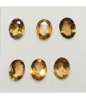 Lot Citrine Oval Faceted 8x6mm (6 pcs).- Ref: 142LO