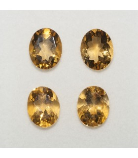 Lot Citrine Oval Faceted 10x8mm (4 pcs).- Ref: 143LO