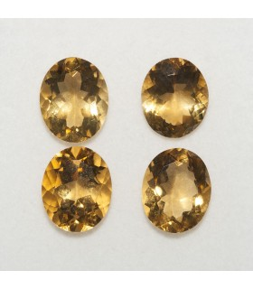 Lot Citrine Oval Faceted 11x9mm (4 pcs).- Ref: 144LO