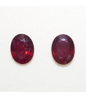 Lot Ruby Oval Faceted 9x7mm (2 pcs).- Ref: 115LO