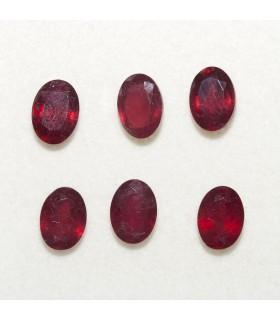 Lot Ruby Oval Faceted 7x5mm (6 pcs).- Ref: 116LO