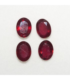 Lot Ruby Oval Faceted 8x6mm (4 pcs).- Ref: 119LO
