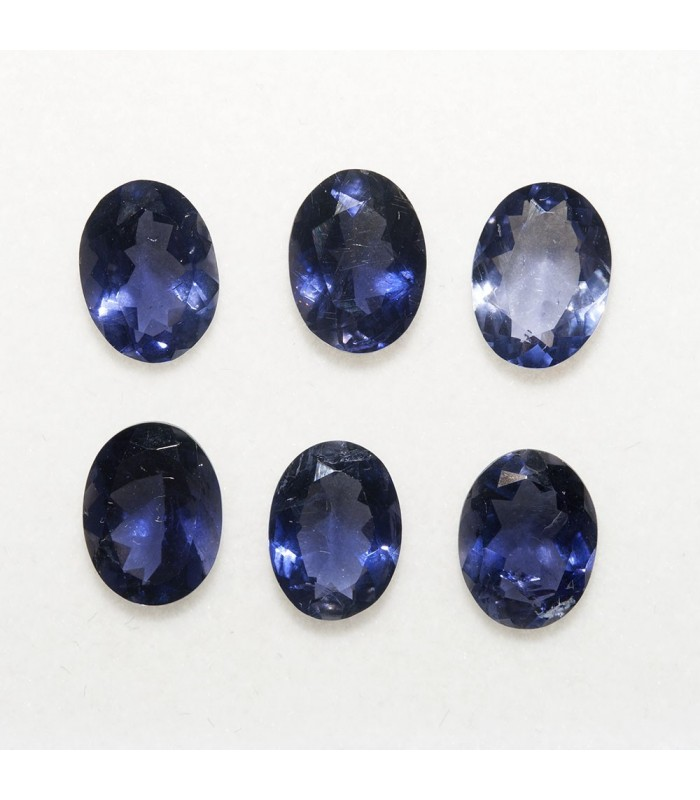 Lot Iolite Oval Faceted 8x6mm (6 pcs).- Ref: 122LO