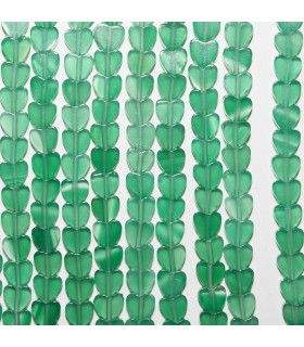 Onix Verde Corazon LIso 4-4,5mm. Hilo 40 cm.- Ref: 10685