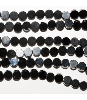 Onyx Smooth Coin 4mm. Strand 40 cm.- Ref: 10697