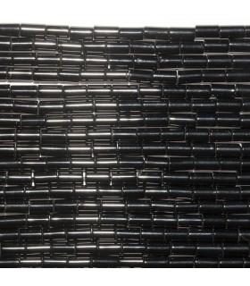 Onix Tubo Liso 4x2mm. Hilo 40 cm.- Ref: 10737