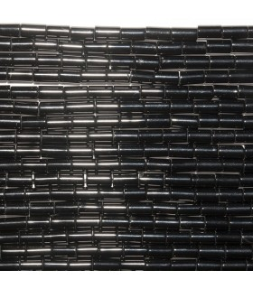 Onyx Smooth Tube 4x2mm. Strand 40 cm.- Ref: 10737