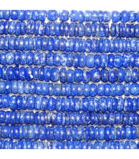 Lapis Lazuli Rodaja Lisa 6x2mm. aprox. Hilo 40 cm.- Ref: 10688