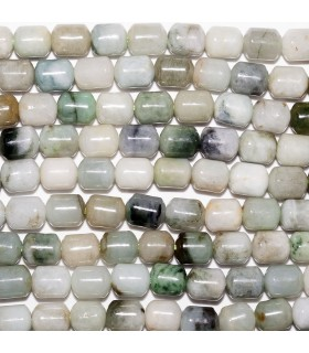 Burma Jade Smooth Barrel 8x6mm. Strand 40 cm.- Ref: 10699