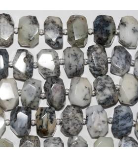 Opalo Dendritico Nugget Facetado 18x13mm aprox. Hilo 40 cm.- Ref: 10703
