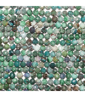 Crysocolla Faceted Round Beads 5mm. Strand 40 cm.- Ref: 10713