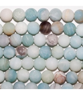 Amazonite Matte Round Beads 10mm. Drilled 2.50mm.- Strand 38 cm.- Ref: 10717
