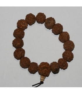 Pulsera Semilla Rudraksha 14mm.-Ref.8220