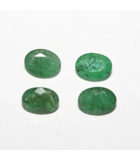 Lot Esmerald Faceted Oval 6x4mm (1.4ct).-Ref: 055PE