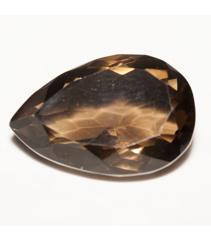 Smoky Quartz Faceted Drop 28.5x20mm (38.85 ct.).- Item: 235PE
