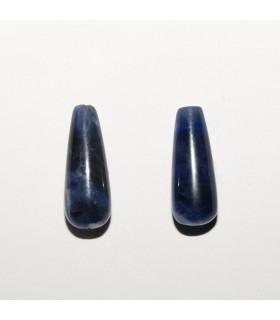 Sodalite Drop 16x6mm. Top Drilled (1 pair).- Item: 10945