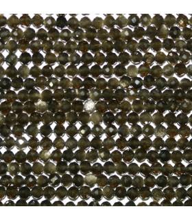 Obsidiana Bola Facetada 3mm.-Hilo 38cm.-Ref.10677