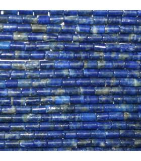 Lapis Lazuli Tubo Liso 4x2mm.-Hilo 40cm- Ref.10738